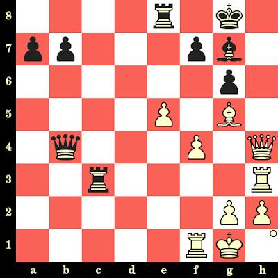 Les Blancs jouent et matent en 4 coups - Slobodan Krstic vs Lhamsuren Myagmarsuren, Siegen, 1970