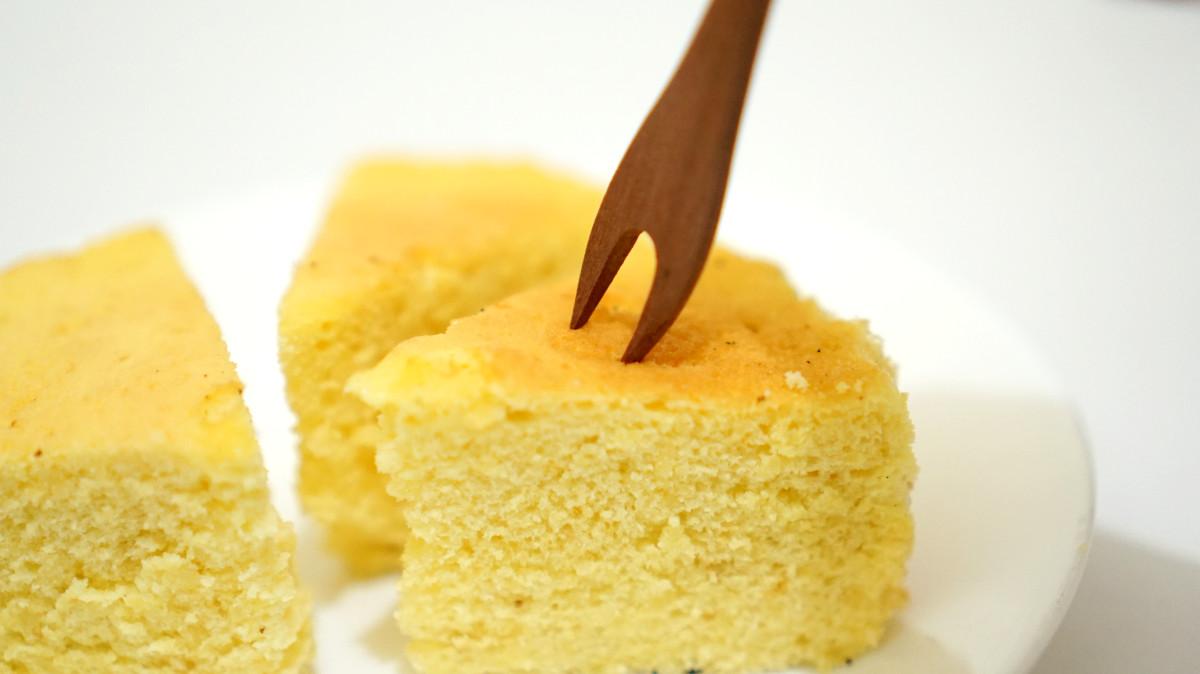 hasil jadi kue bolu keju rice cooker