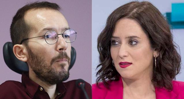 Pablo Echenique e Isabel Díaz Ayuso