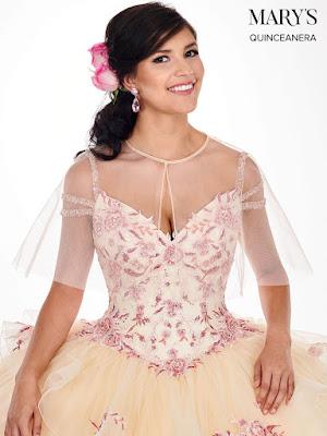 Champagne/pink Color Cold Shoulder Ball gown Dress Front design