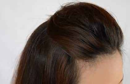 simple backcomb hairstyle
