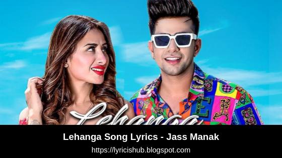 Lehanga Song Lyrics - Jass Manak   Satti Dhillon   Latest Punjabi Songs   GK.DIGITAL   Geet MP3   Lyricishub