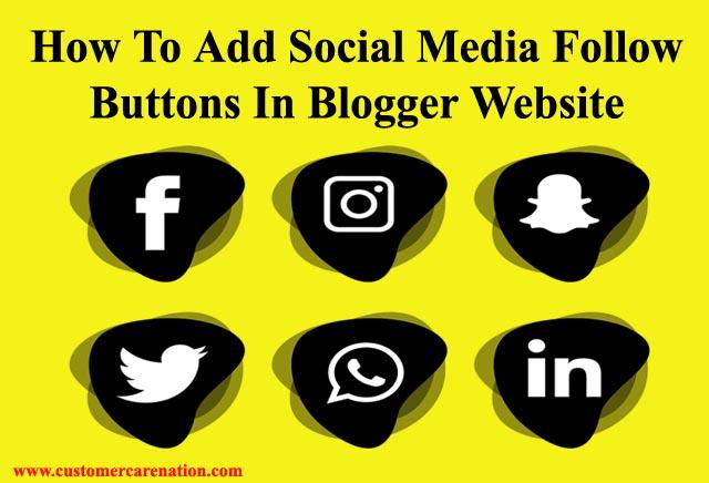 Blog Me Social Follow Buttons Kaise Add kare