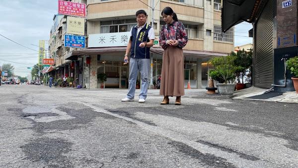 彰化市建國東路刨除路面重餔 用路人不再心驚驚