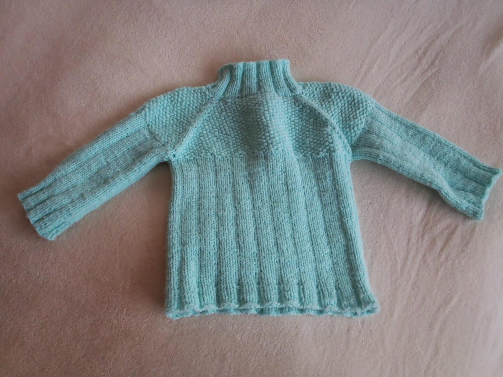 Zimní svetr - pletený pro malou teď už nošený malým. 2d76eece12