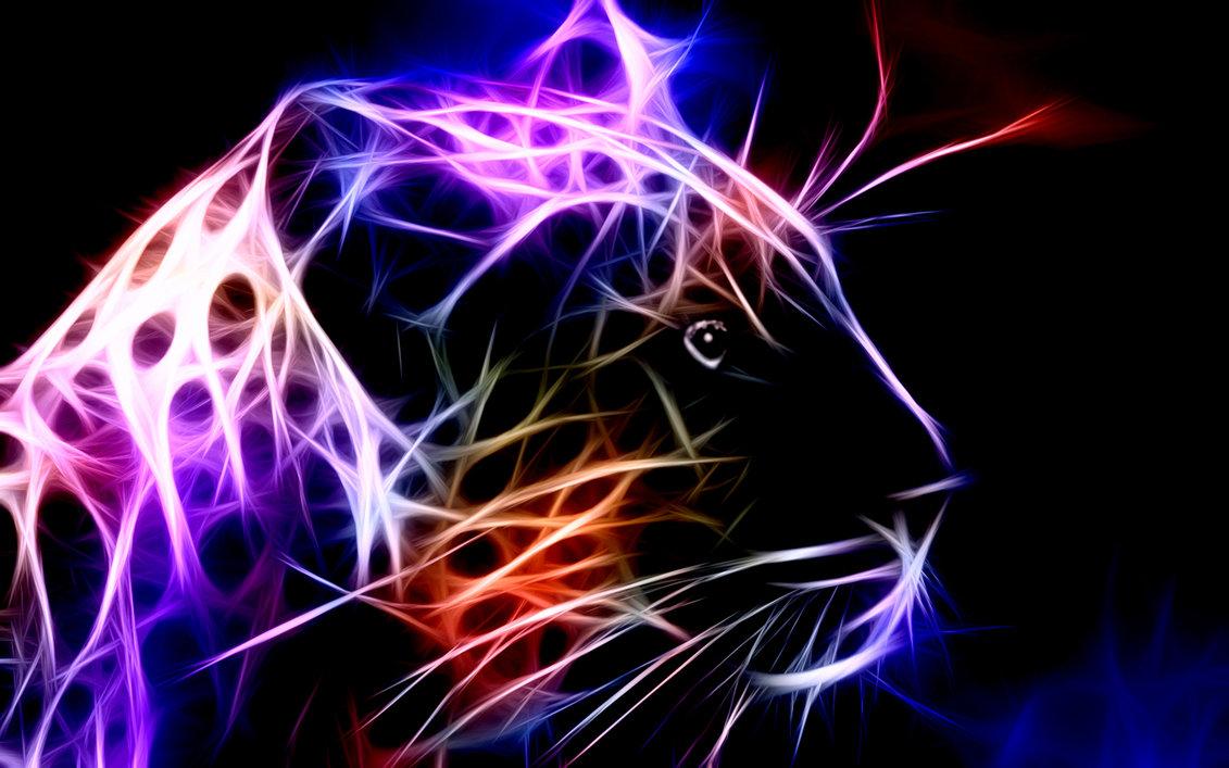 Digital Leopard Art Wallpapers: Nice Animals Fractal