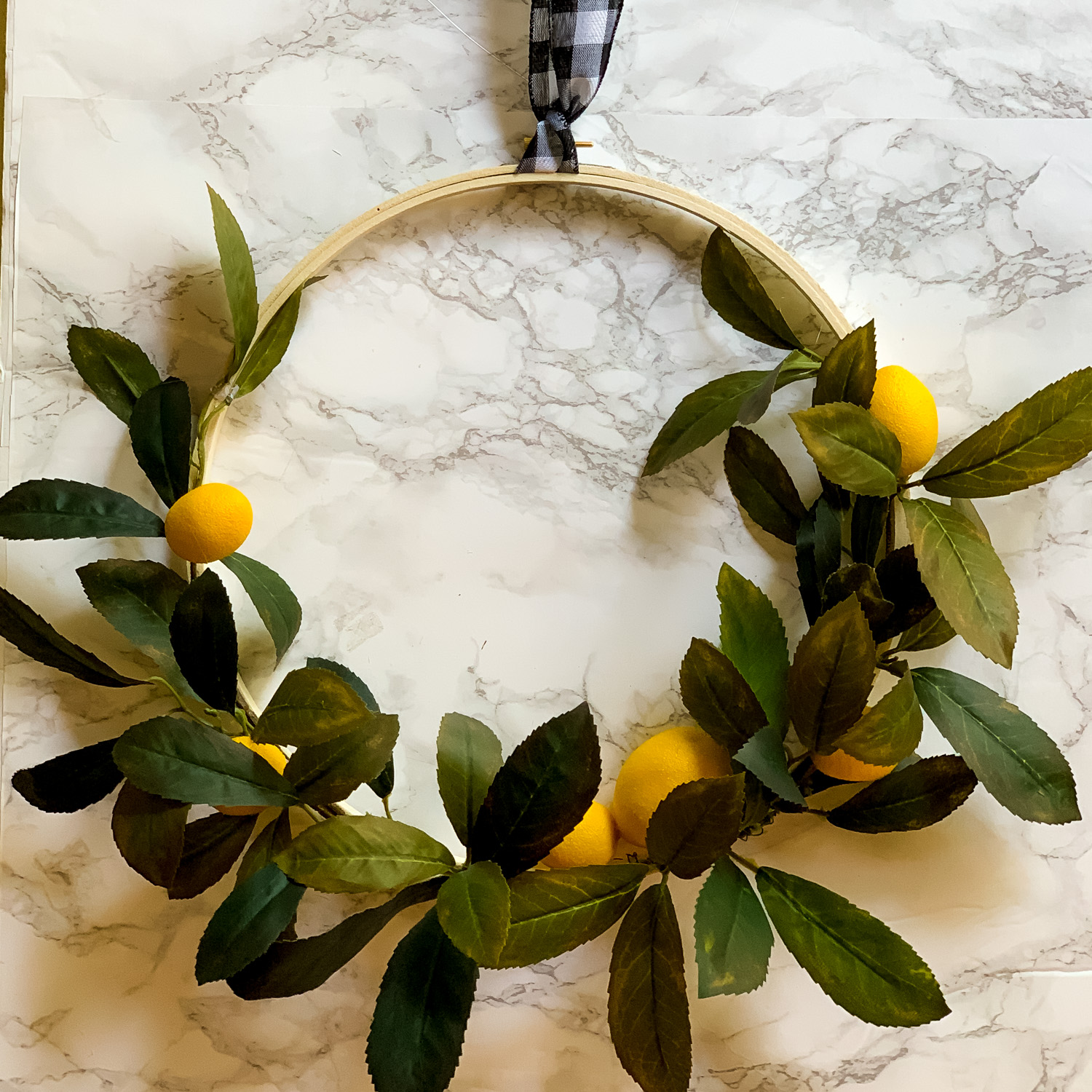 Summer Lemon Hoop Wreath DIY