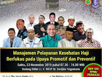 Seminar dan Workshop Nasional Kesehatan Haji Yogyakarta 23 November 2019