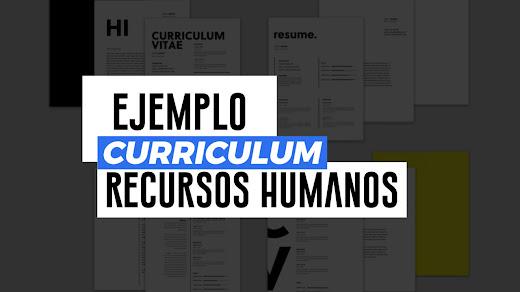 Ejemplo de CV de Recursos Humanos