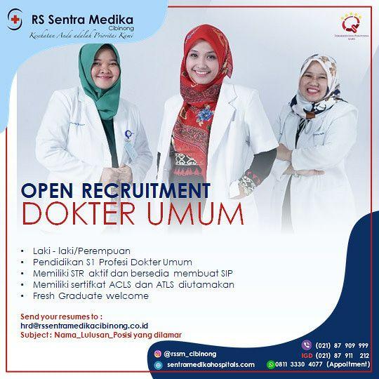 Loker Dokter RS Sentra Medika Cibinong