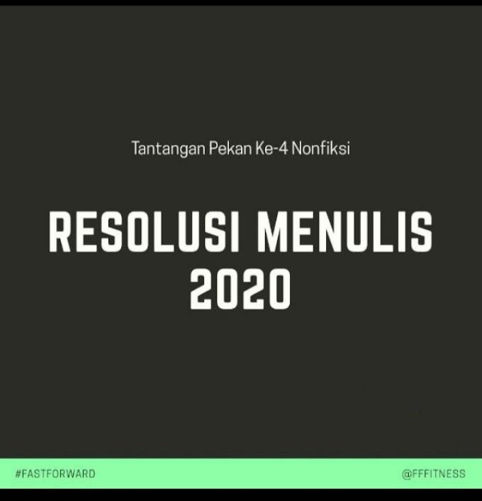 Resolusi Menulis 2020