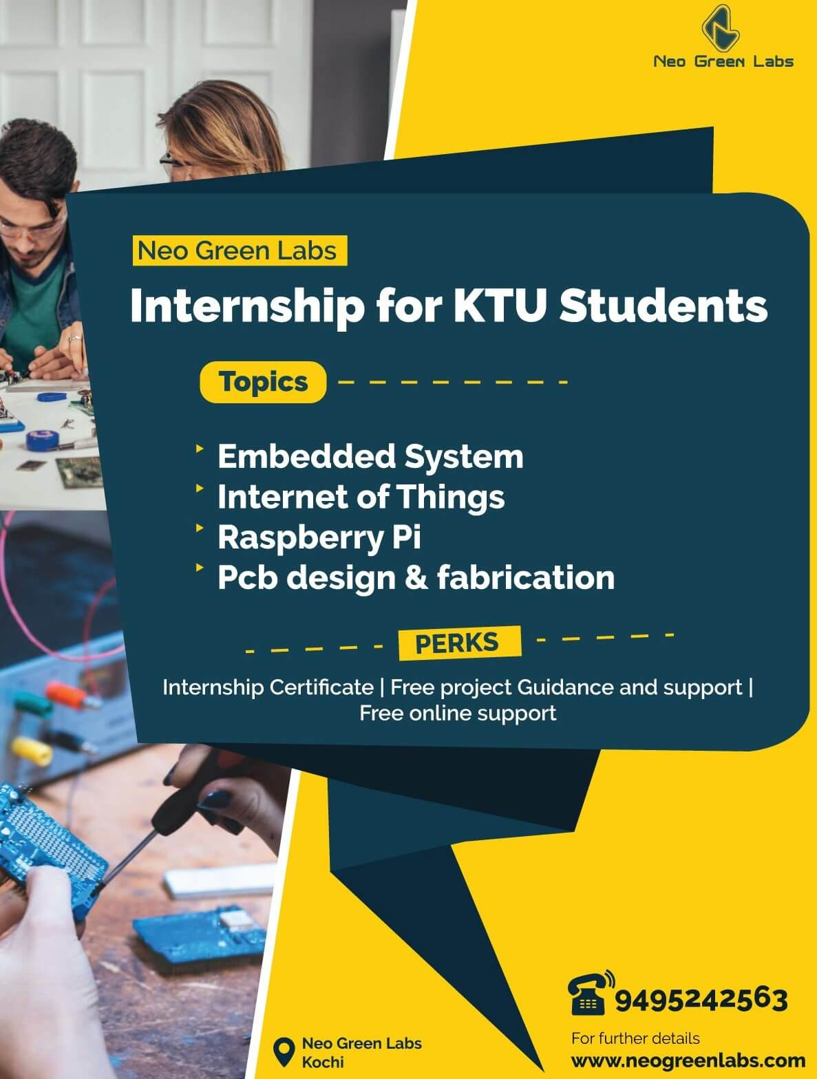 Neo Green Labs Internship Programs for KTU Students