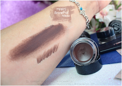 mars swatches review brow pot nabla eyebrow