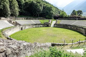Ailleurs : Amphithéâtre romain de Martigny en Suisse, vestige de la cité antique de Forum Claudii Vallensium