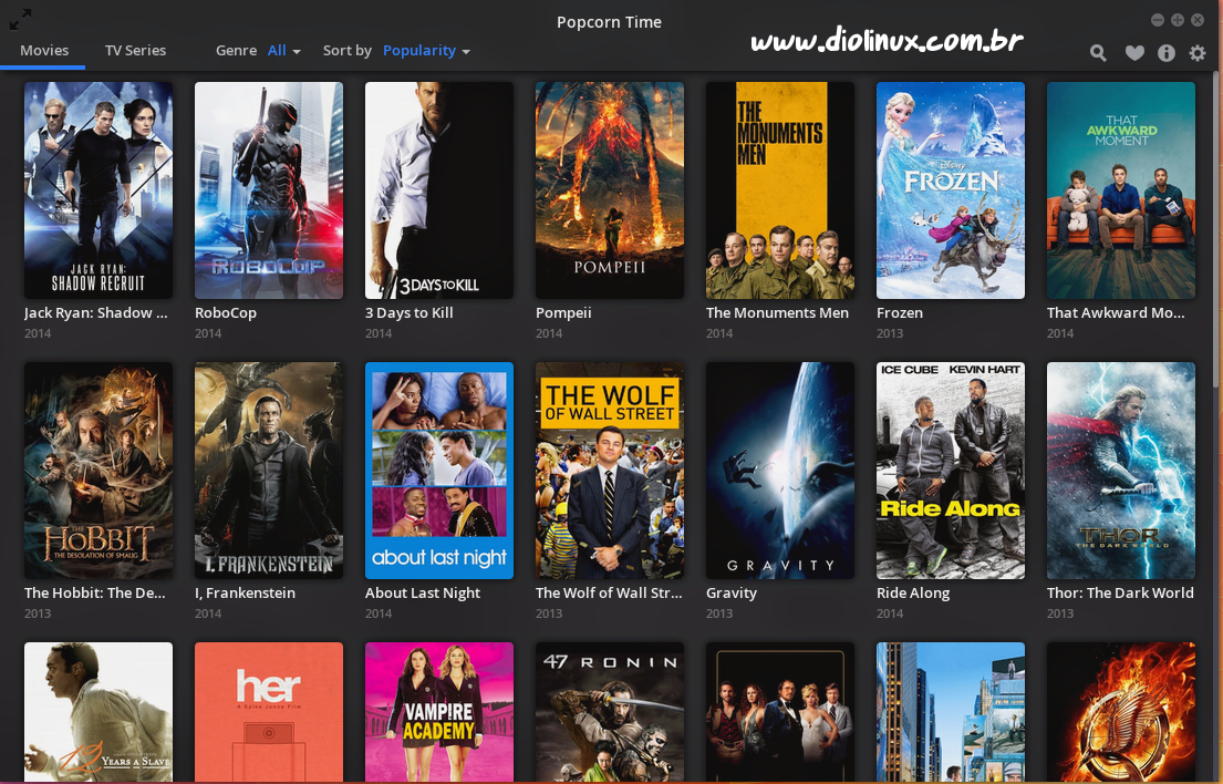 Assiste PopCorn Time Online