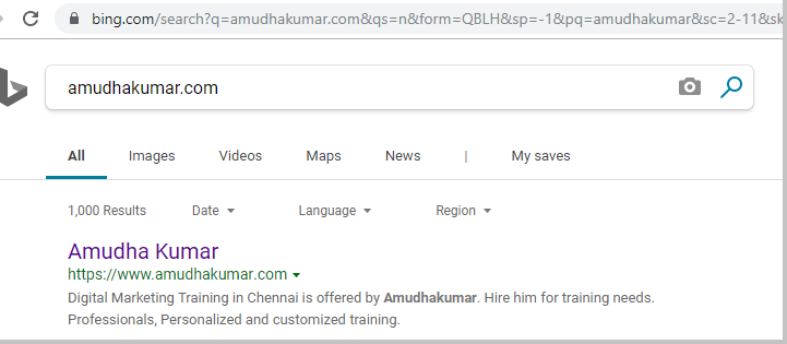 Bing-Index-Status-for-Amudhakumar-website