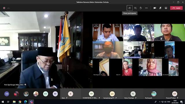 Universitas Terbuka Perkenalkan Kualitas PJJ Pada Pers di Sumatera Barat