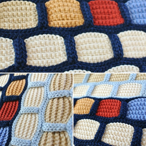 Crochet Brick Stitch - Free Pattern
