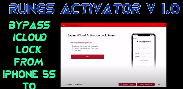 Download Rungs Activator V1.1 Bypass iCloud with Signal - Full Untethered!