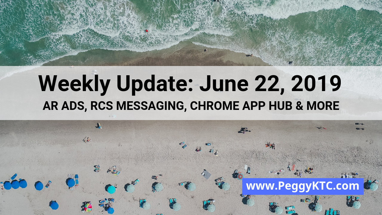 Weekly Update - June 22, 2019: AR Ads, YouTube Analytics
