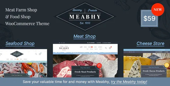 Best Meat Farm & Food Shop Responsive WordPress Theme