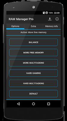 تنظيف الذاكرة العشوائية اندرويد, مسح ذاكرة الوصول العشوائي, تطبيق RAM Manager Pro مدفوع للأندرويد