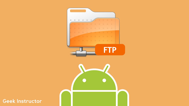 Share files on Android using FTP server