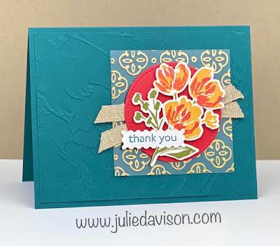Stampin' Up! Fine Art Floral Suite ~ Art Gallery Thank You Card ~ January-June 2021 Mini Catalog ~ www.juliedavison.com #stampinup