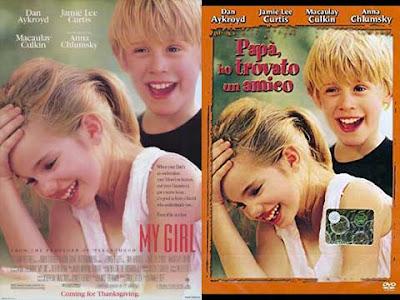 La locandina di ''My girl'', in italiano ''Papà, ho trovato un amico''