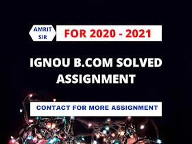 ECO - 01: BUSINESS ORGANISATION ( व्यावसायिक संगठन) | IGNOU FREE SOLVED ASSIGNMENT 2020 - 21 | B.COM | FREE SOLVED ASSIGNMENT HINDI MEDIUM