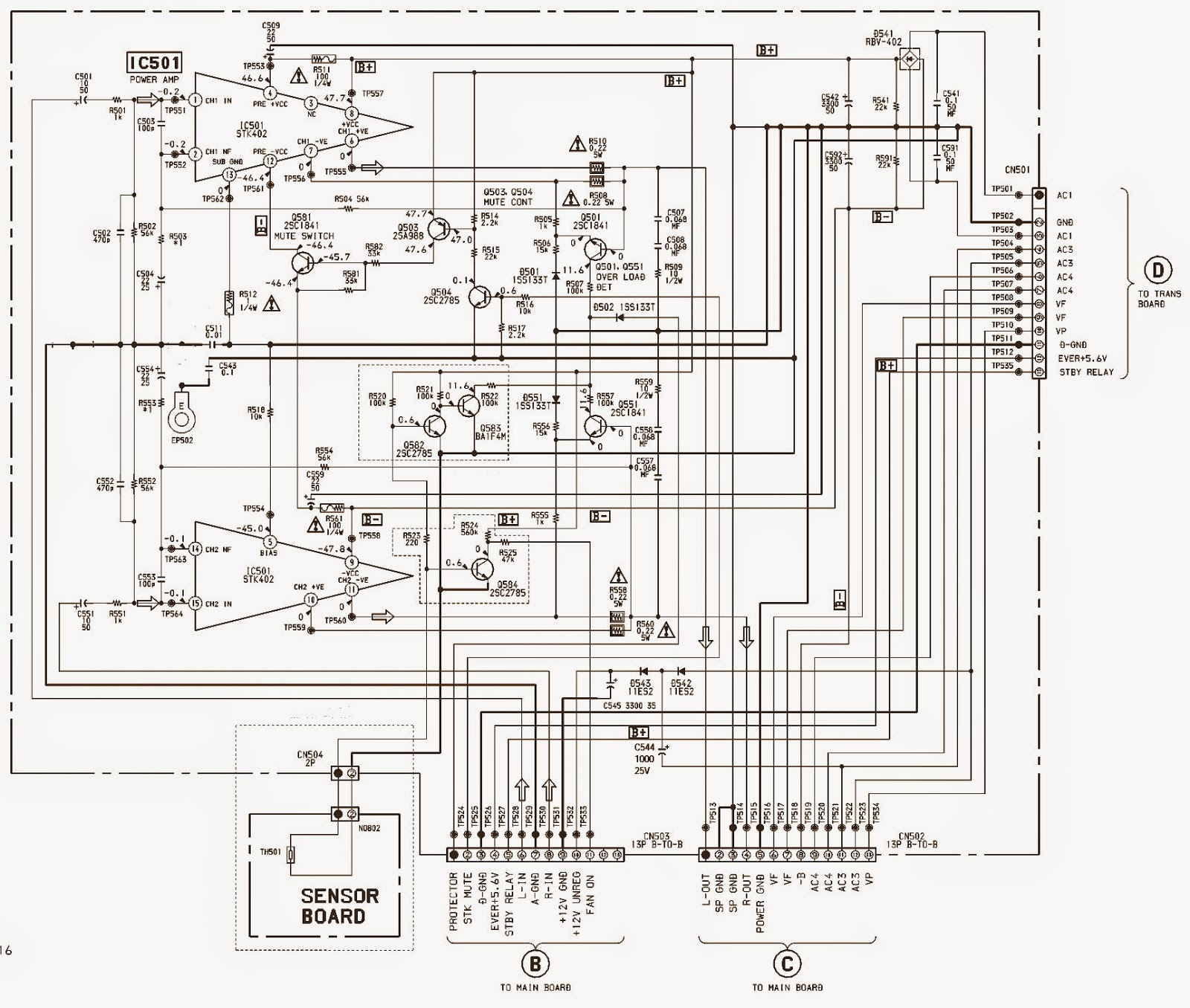 Sony Mhc Dx3 Brazil Power Amplifier Schematic Stk