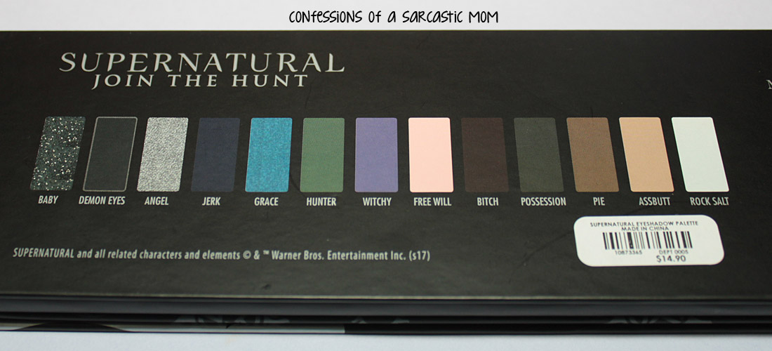Supernatural Makeup Palette Hot Topic Saubhaya Makeup