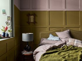 Ochre Yellow and Pale Pink Interior Design