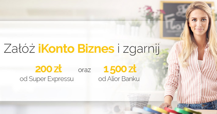 iKonto Biznes - 1700 zł za konto firmowe Alior Bank