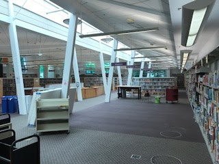 Interior of Quince Orchard library before renovation preparation begins