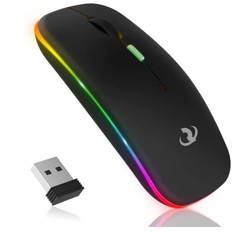 RIIKUNTEK Rechargeable LED Slim Wireless Mouse