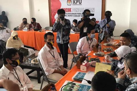 Empat Bapaslon Bupati dan Wakil Bupati Cianjur Resmi Mendaftar Ke KPU