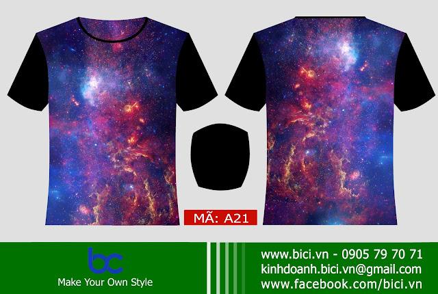 Mẫu áo lớp galaxy