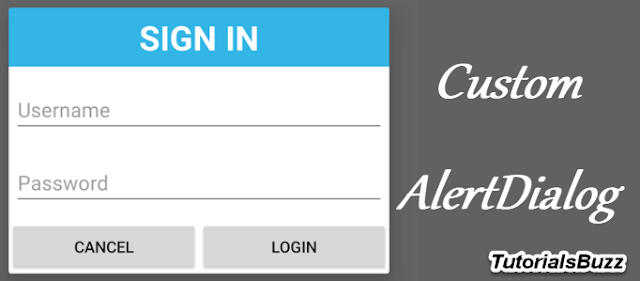 Android Custom AlertDialog