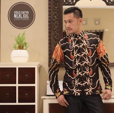 kemeja batik kombinasi pria lengan panjang terbaru, kemeja batik tulis pria lengan panjang, model baju batik pria lengan pendek kombinasi kain polos