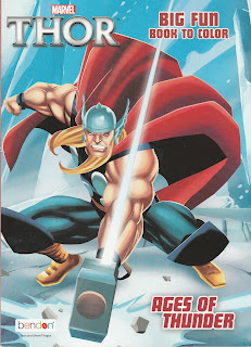 Front cover of Thor Big Fun Book To Color: Ages of Thunder