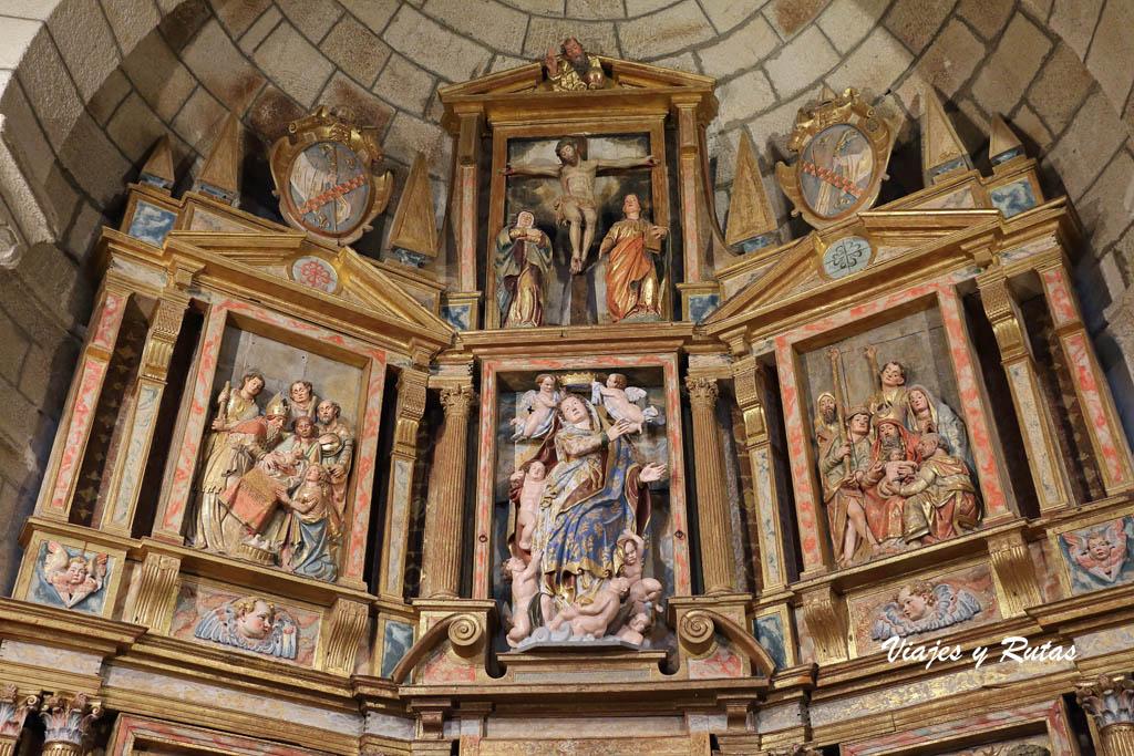 Retablo Mayor de la iglesia de Xunqueira de Espadanedo