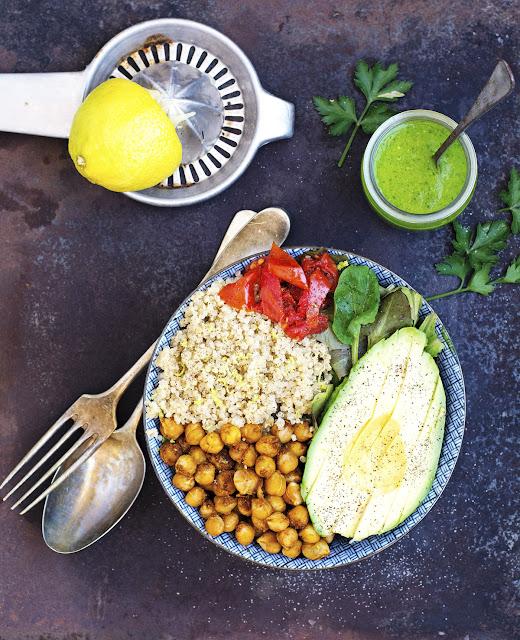 (Vegan) Buddha Bowl with Lemon Parsley Dressing