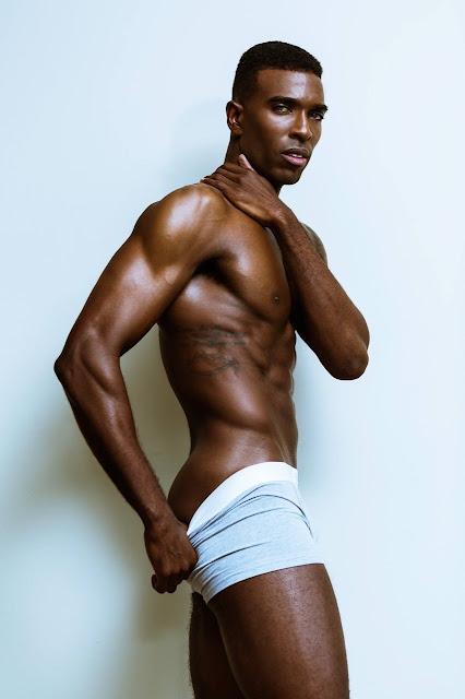 Kenneth Hill by Christopher Marrs Dark Skin Male Model Underwear
