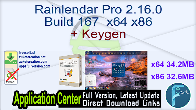 Rainlendar Pro 2.16.0 Build 167  x64 x86 + Keygen