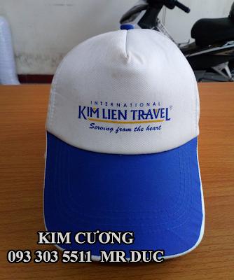 Nhận may nón sự kiện cho công ty Kim Liên Travel