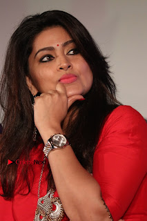 Actress Sneha Latest Stills in Red Dress at Simba Audio Launch  0003.jpg