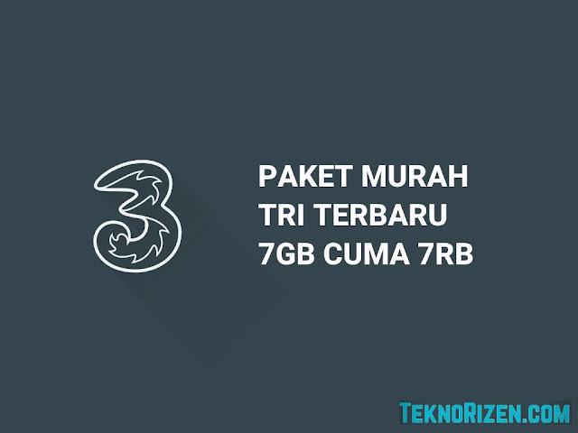 Cara Beli Paket Murah Tri 7GB Rp 7000 Terbaru