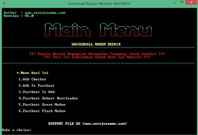Universall Repair Modem/Sinyal Qualcomm Msm8916