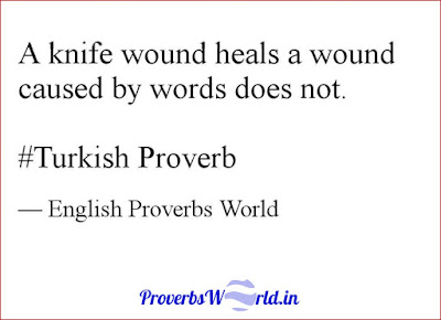 Proverbs World, Proverb, English Proverb Meaning, Turkish Proverb